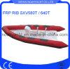 Barco pesquero de fibra de vidrio Sxv580t/Sxv640t con tubo de PVC inflable