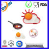 2015 La FDA Food Grade Multi forma del molde de huevos de silicona de cocina