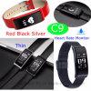 Plein écran tactile Bluetooth Bracelet avec moniteur de fréquence cardiaque C9