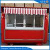Quiosque móvel do fast food da rua com toldo