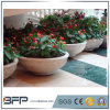 Potenciômetro de flores de granito decorativas para jardim