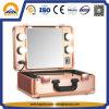Goldener Verfassungs-Kasten mit LED-Lichtern und Spiegel (HB-6403)