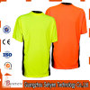 T-shirt fluorescent vert orange de plaine de travail de sûreté de visibilité élevée