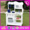 Новые дети конструкции претендуют игру установленное W10c045W кухни игрушки игры белую деревянную
