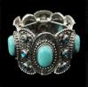 Het klassieke Bruids Turkoois van Juwelen parelt de Armband van de Armband
