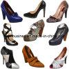 Zapatos de cuero de zapatos del alto talón de las mujeres de la manera