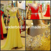 Vestido de noite frisado E13910 da dama de honra dos cristais dos vestidos formais Chiffon do baile de finalistas