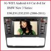 GPS를 가진 BMW 3 시리즈 E90 E91, Bluetooth 의 핸들 통제, 뒷 전망 사진기 (AD9203)를 위한 3G WiFi 인조 인간 4.0 차 DVD GPS