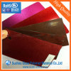 Fancy 0.6mm disque Glitter Bourgogne feuille de plastique PVC Enveloppement du tambour
