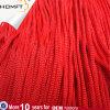 Cuerda de nylon de la cuerda roja del paracaídas para la bolsa de papel de la mano