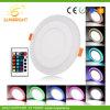 6-18W doppio comitato della lampada di colore LED
