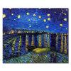 壁のためのキャンバスのゴッホの星明かりの夜油絵の再生