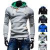 Pullover grigio Hoodies di modo del Melange per il Mens