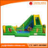 Diapositiva animosa del Moonwalk inflable al aire libre del patio para el parque de atracciones (T6-027)