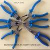 7  pinze lunghe della punta con la maniglia blu elegante