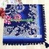 Algodão sarjado lenço impresso com o pendão Fashion Square Xale Mulheres