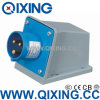 Штепсельная вилка 230V 16A 3p 6h IP44 Qixing Cee/IEC поверхностная установленная