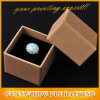 Бумажная коробка подарка ювелирных изделий кольца Brown Kraft