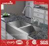 Bassin de cuisine fabriqué à la main de cuvette de double de radius de Fornt de tablier d'acier inoxydable avec la conformité de CSA