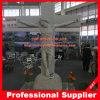 Grotere Jesus met het DwarsBeeldhouwwerk van het Graniet van het Standbeeld van het Graniet