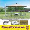 알루미늄 라운드 LED 태양 우산