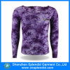 Maglietta lunga del cotone del manicotto del fornitore dell'OEM della Cina