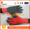 Ddsafety 2017 Neon Orange Polyester Liner Grey Latex Coating Foam Finish
