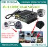 Pixel-mobiles Fahrzeug 1080 DVR für Taxi-LKW-Schulbus mit dem 4 Kanal-Support 3G 4G WiFi GPS