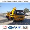 높은 작업을%s 20m Dongfeng 망원경 유형 물통 트럭