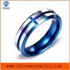 Ring van het Wolfram van Jewellry van het Lichaam van het Plateren van de Juwelen van Shineme de Blauwe