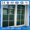 Doppeltes Glasschiebendes Aluminiumfenster, Gitter innerhalb des doppelten Glasaluminiumfensters