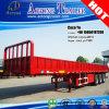 3 Semi Aanhangwagen van de Container van de Zijgevel van assen Flatbed voor Senegal