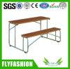 Mobília dobro barata do estudante das tabelas e das cadeiras da escola para a venda (SF-47D)