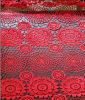 Tela química del bordado rojo del estiramiento para la ropa y el vestido