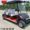 4つのシートの電池式の電気ゴルフ観光車