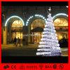 Árbol de navidad al aire libre del espiral de la luz de la secuencia de la decoración LED del día de fiesta