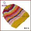 Chapéu feito malha inverno de angorá (W12-4)