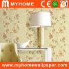 Papier peint mural de mur floral de vinyle pour le matériel de décoration