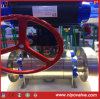 El muñón de acero forjado de válvula de bola con actuador eléctrico