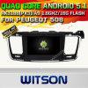 GPS van 5.1 Auto DVD van Witson Androïde voor Peugeot 508 met de Steun van ROM WiFi 3G Internet DVR van Chipset 1080P 16g (A5637)