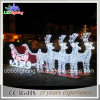LED Outdoor Christmas Light 3D Motif Light Reindeer and Sleigh