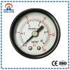 1.5 Zentralmontage schwarz lackiertem Stahl Fall 0-10kg / 150psi Druckmessgerät mit Messing Internals