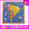 2015 Kids Dom Brasil Mapa Puzzle de papel, madeira de brinquedos educativos Mapa Puzzle presente de Natal Puzzle do mapa de madeira W14C143