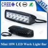 barra chiara del veicolo automatico 4X4 dell'indicatore luminoso del lavoro di 18W LED mini