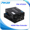 Prolongamento da fibra do cabo RJ45 de Hdbaset com o transmissor do IR RS232 HDMI e receptor a 100m