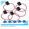 12V 10 патрон предохранителя AWG Red Wire Harness Waterproof Automotive Vehicle Inline с Cover