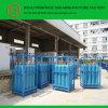 Estante del cilindro de gas con 12 cilindros de oxígeno