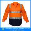 주황색 사려깊은 셔츠를 입는 도매 작업 높은 시정