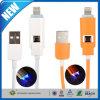Cabo da carga do USB 2.0 da sobrecarga da iluminação do diodo emissor de luz micro
