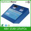 batería de 48V 15ah LiFePO4 para la fuente de alimentación de reserva